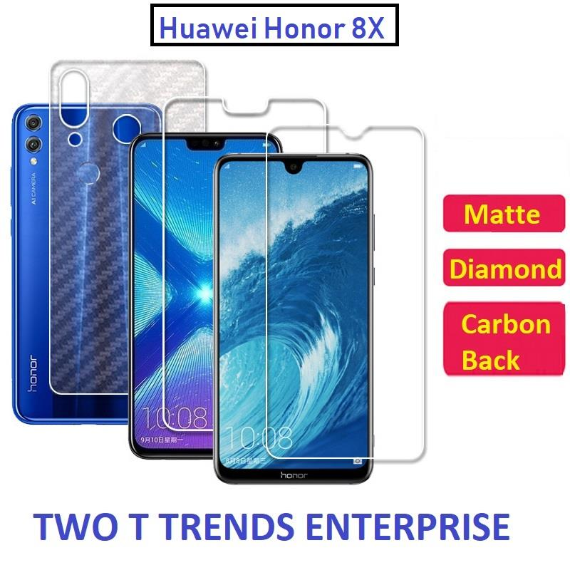 Huawei Honor 8X Matte Diamond Carbon Back Screen Protector