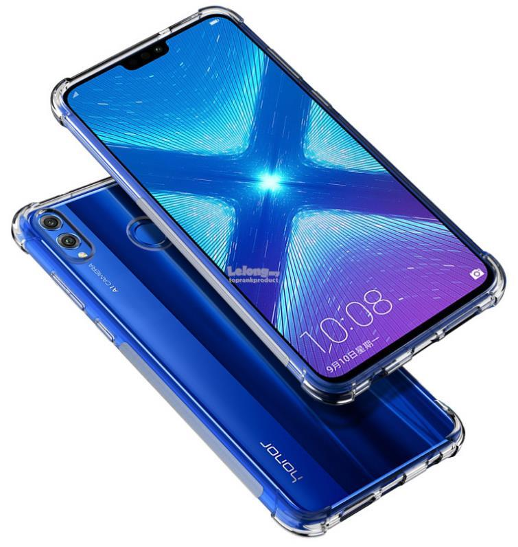 Huawei Honor 8X / Max Transparent ShakeProof Back Case Cover Casing