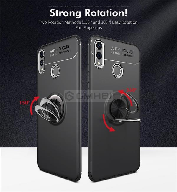 Huawei Honor 8X Ring Buckle Tough Armor Bumper Soft Back Cover Case