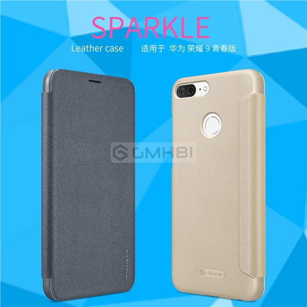 more photos 3c715 7c8ab Huawei Honor 9 Lite Nillkin SPARKLE Ultra Slim Leather Flip Cover Case