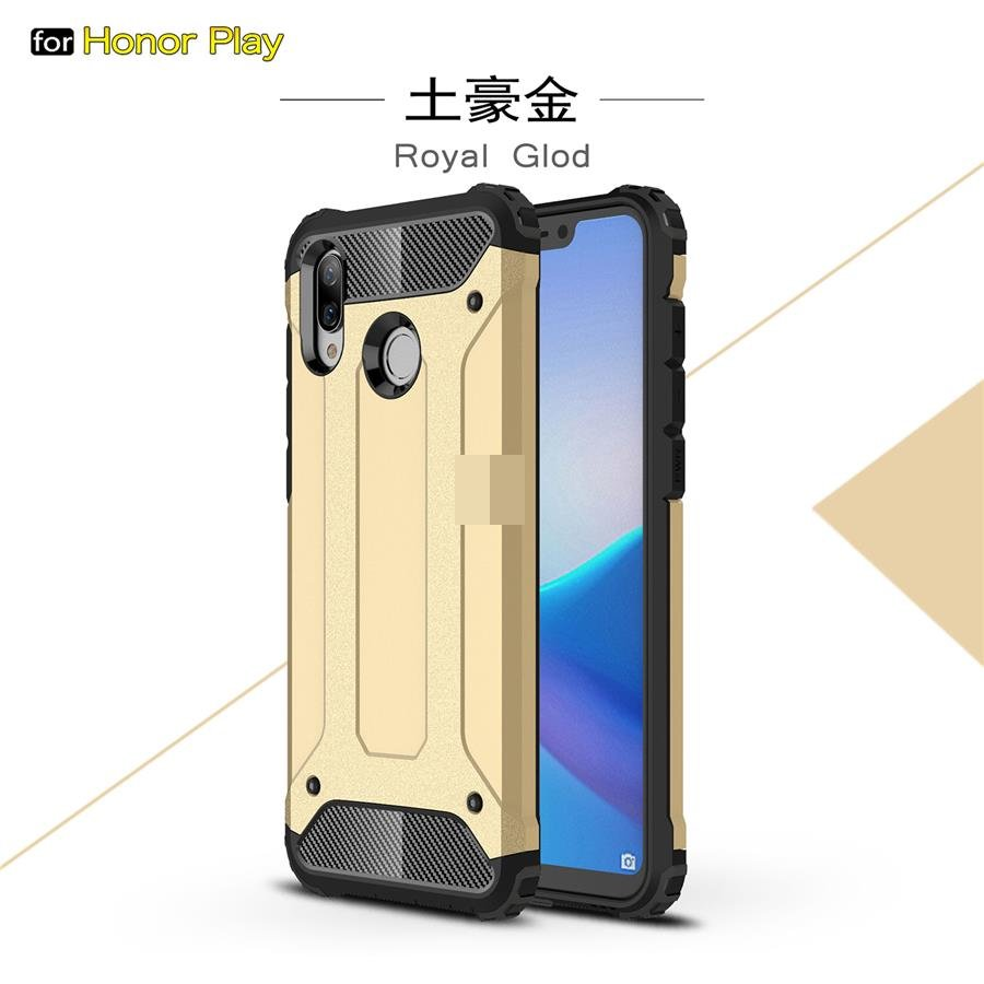 Huawei Honor Play Tough Armor ShakeProof Back Case Cover Casing
