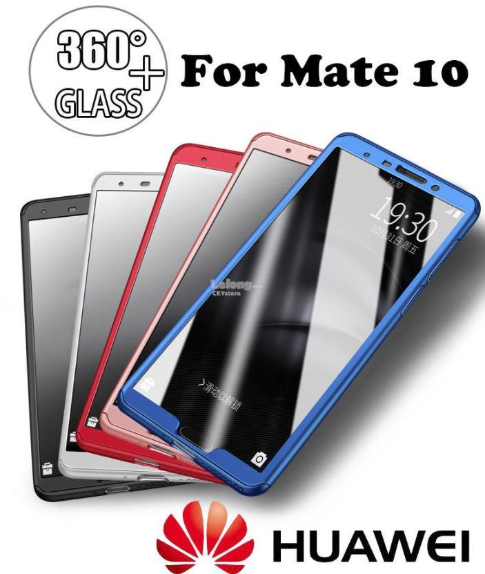 pretty nice c3a7f d5b2b HUAWEI Mate 10 360 Full Protection with Tempered Glass Case