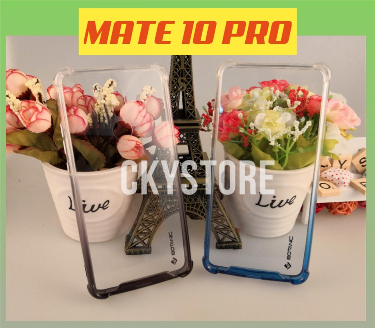 HUAWEI Mate 10 / MATE 10 Pro BOTANIC FULL Transparent ANTIDROP Case