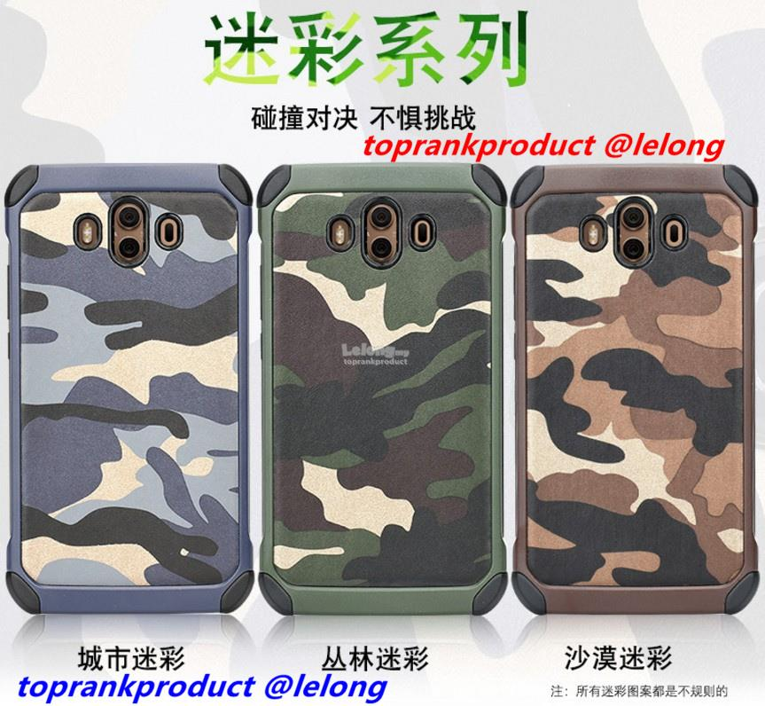 Huawei Mate 10 Mate10 Camouflage ShakeProof Back Case Cover Casing