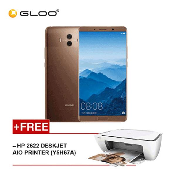 Huawei Mate 10 Mocha Brown + HP 2622 Deskjet AIO Printer (Y5H67A)