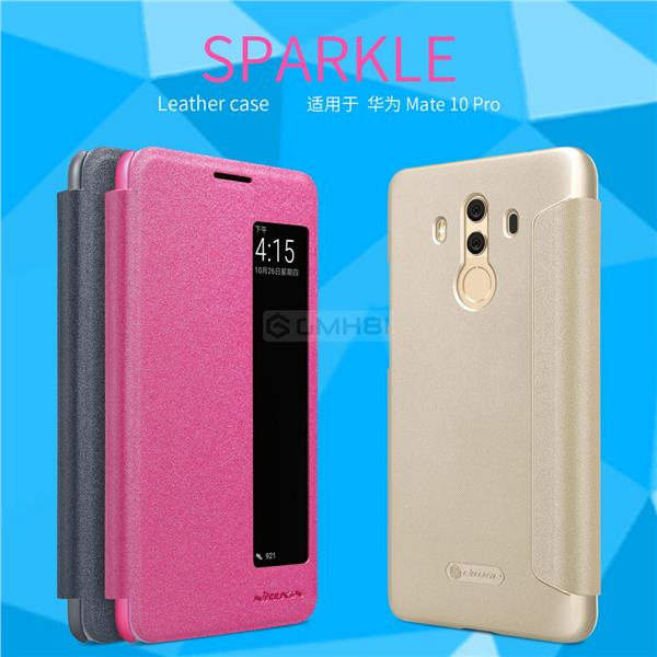 buy online c6537 6abbd Huawei Mate 10 Pro Nillkin SPARKLE Smart Cover Flip Case Auto Sleep