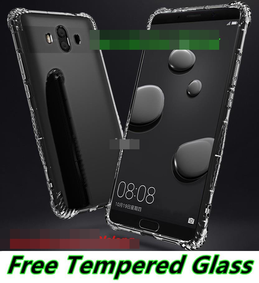 Huawei Mate 10 / Pro Transparent ShakeProof Case Cover Casing + Glass