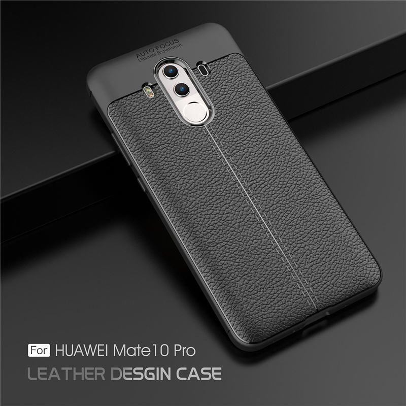 newest bec1b d9f6b Huawei Mate 10 Pro Ultra Thin Luxury PU Leather Soft Shockproof Case C
