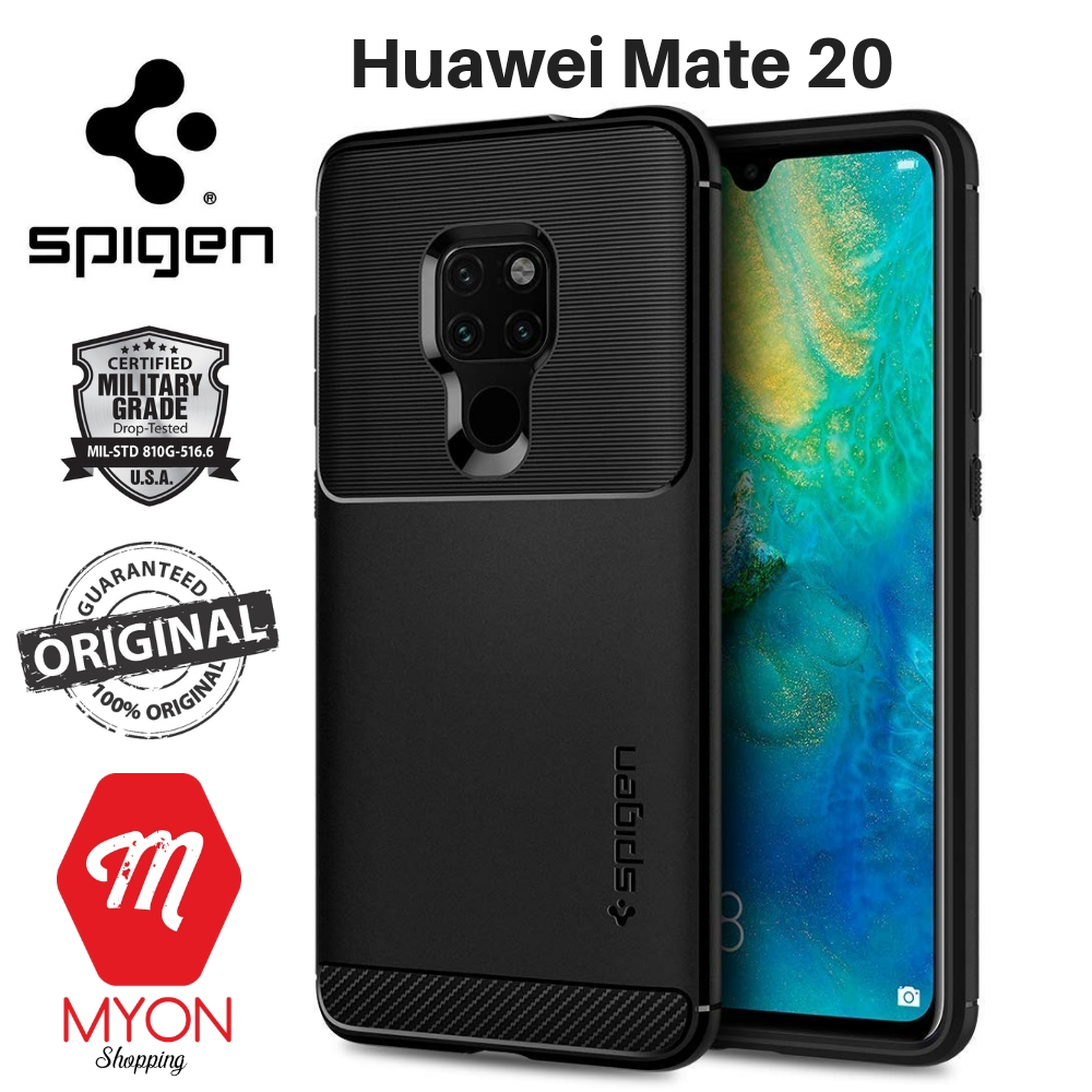 hot sale online a39b7 1969a Huawei Mate 20 Case - SPIGEN Rugged Armor [Shock Absorption]