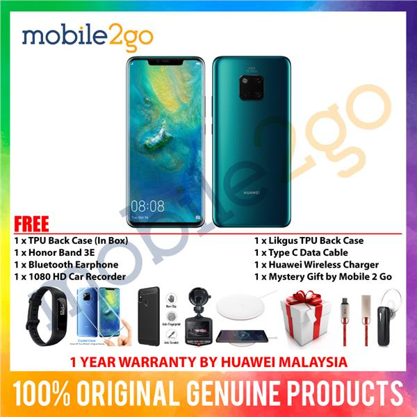 Huawei Mate 20 Pro [6GB RAM + 128GB ROM] M'sia Set + Gift