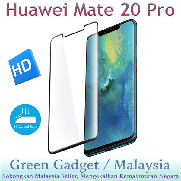 Huawei Mate 20 Pro Full Glue Screen Protector 3D Tempered Glass