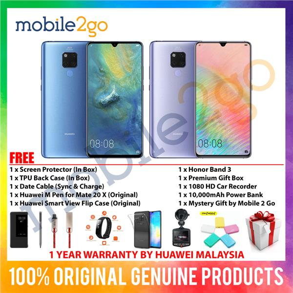 Huawei Mate 20 X [6GB RAM + 128GB ROM] MY Set + Gift