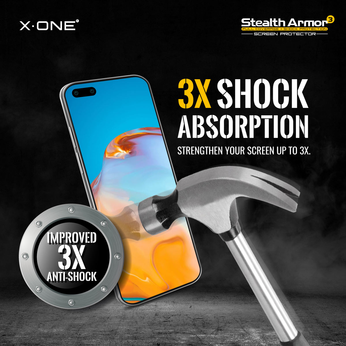 Huawei Mate 40 / 40 Pro / 40 Pro+ X-One Stealth Armor 3 Clear Matte
