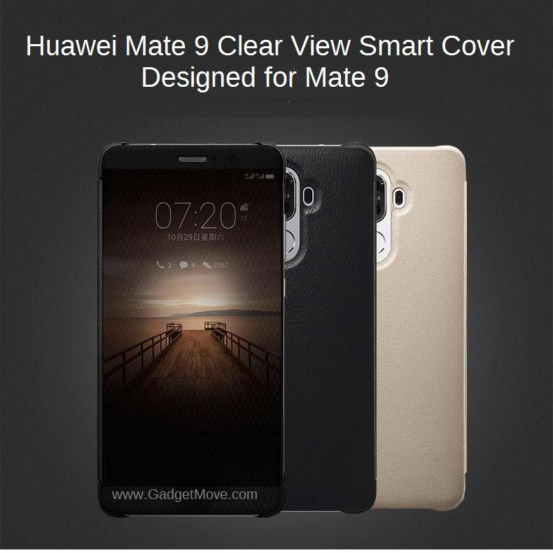 quality design 63f0c d667c HUAWEI Mate 9 P10 / Plus Smart Clear Full View Flip Cover Leather Case