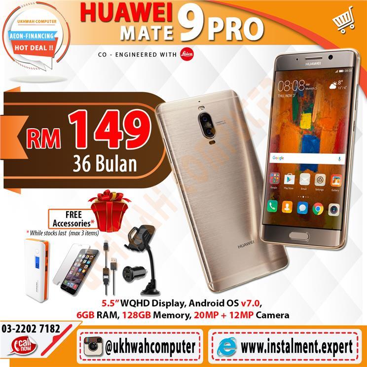 Huawei Mate 9 Pro 128GB Harga Ansuran Installment AEON 36 Bulan