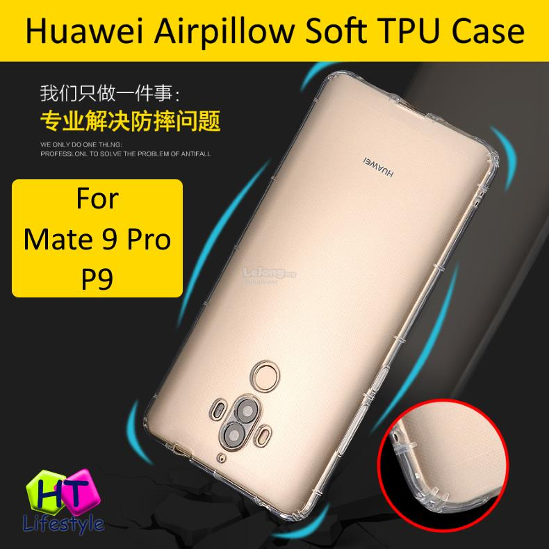 Huawei Mate 9 Pro,P9 Anti Shock Transparent Airpillow Soft Case