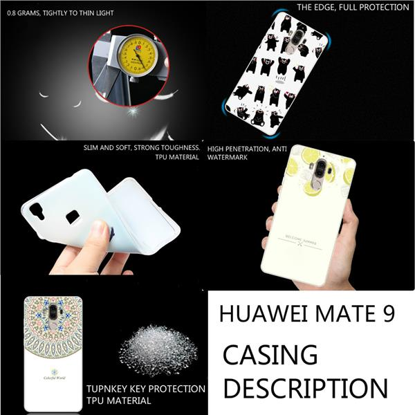 Huawei Mate 9 soft silicon casing (luffy cartoon)