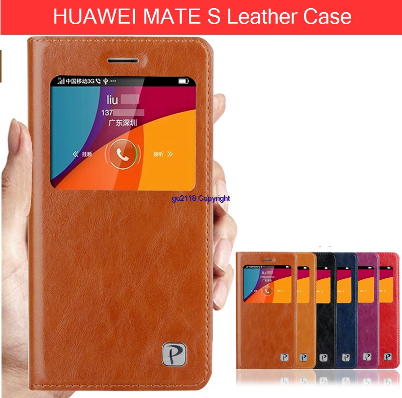 Huawei Mate S Leather Case casing cover Cowhide