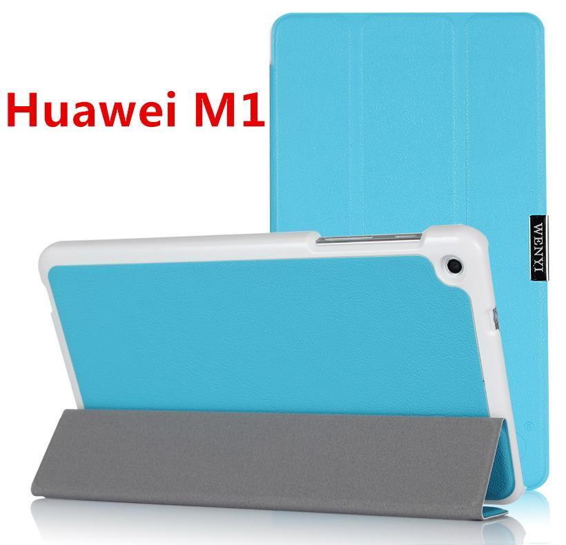 Huawei MediaPad M1 PU Leather Flip Case Cover Casing