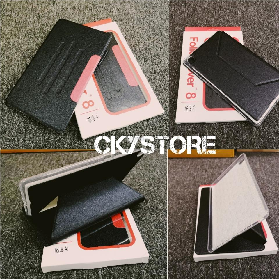 detailed look 69a97 3b5d4 HUAWEI MediaPad M5 8.4 / 10.8 FOLIO Standable FLIP Case Cover