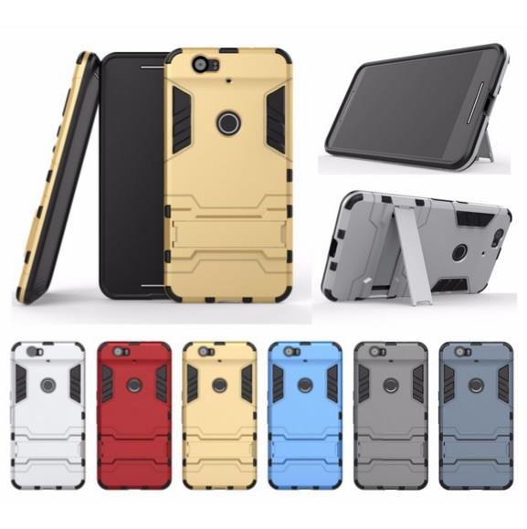 cheap for discount ed73e 8b15c Huawei Nexus 6P Honor 8 Silicon Iron Man Stand Tough Armor Case Cover