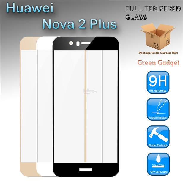 Huawei Nova 2 Plus Full Cover Tempered Glass Screen Protector