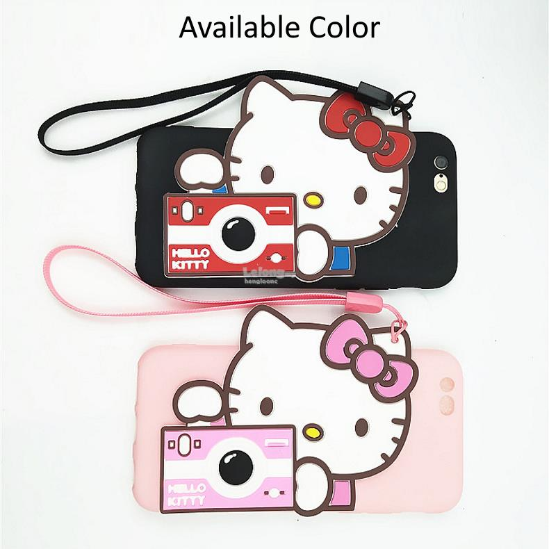 Huawei Nova 2 Plus,Nova Plus Camera Kitty Soft TPU Case With Lanyard