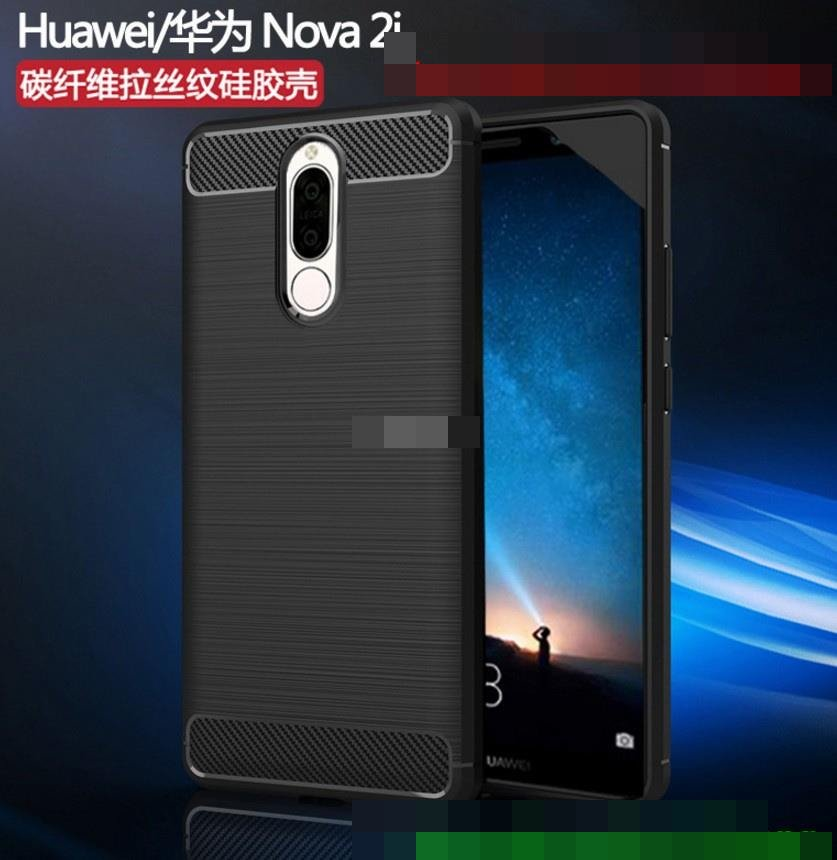 Huawei Nova 2i Rugged Armor Soft Back Silicone TPU Case Cover Casing