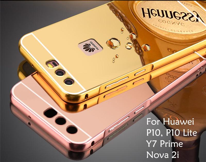 best sneakers e5029 4e0e2 Huawei Nova 2i Y7 Prime P10 / P10 Lite Mirror Metal Cover Case Casing