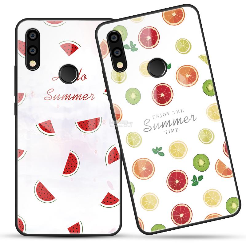 Huawei Nova 3 3i 3e Tempered Glass Fruit Design Back Case Cover Casing