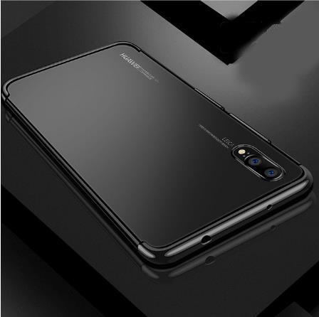 Huawei Nova 3E / 3i Laser Plated Phone Case Cover Casing (Black)