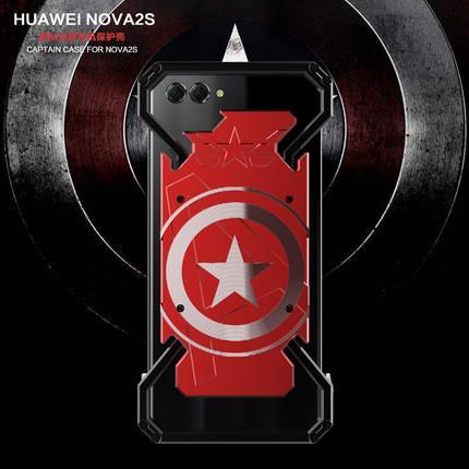 new style c2016 05d75 Huawei Nova 3i 3 3E 2 Metal Bumper shakeproof Armor Case Cover