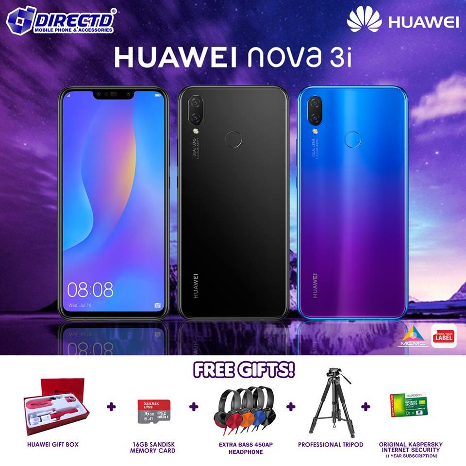 7b1a7b33 Huawei NOVA 3i (4GB RAM) NEW PRICE! ORIGINAL set + FREE GIFT BOX. ‹ ›