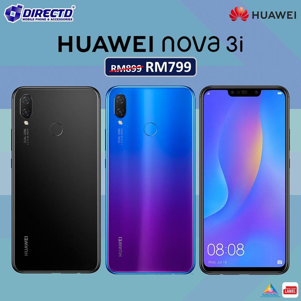 Huawei NOVA 3i (ORIGINAL set) is NOW RM799😱+ 2 YEARS WARRANTY