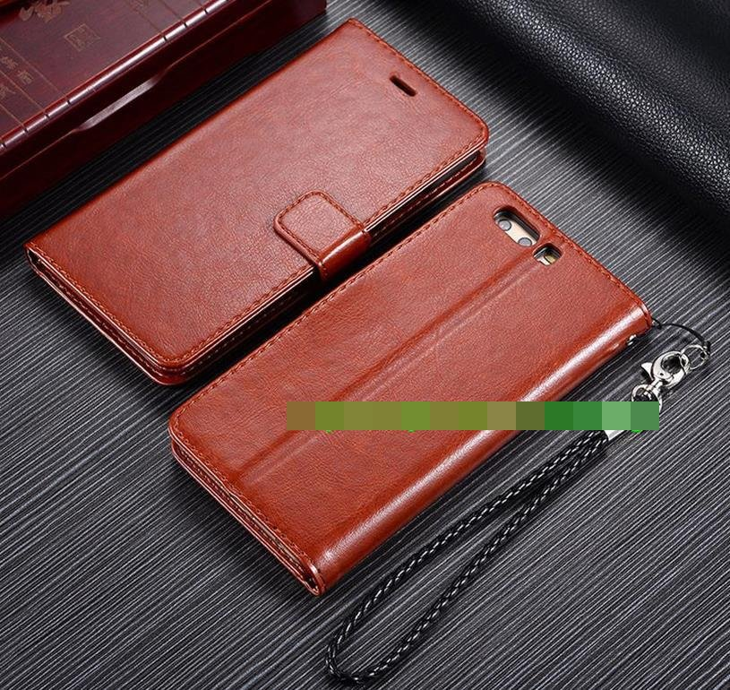 Huawei P10 / Plus Flip Card Slot PU Leather Stand Case Cover Casing