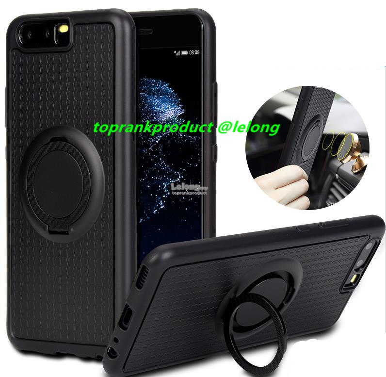 Huawei P10 / Plus Magnet Silicone Ring Stand Full Case Cover Casing