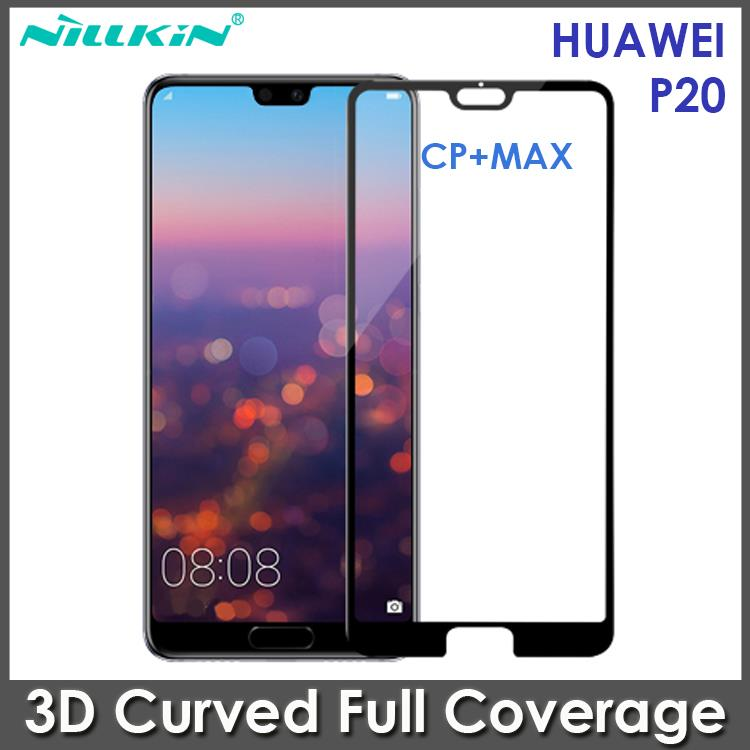 Huawei P20 Nillkin 3D CP+MAX Full Coverage Tempered Glass Screen Prote