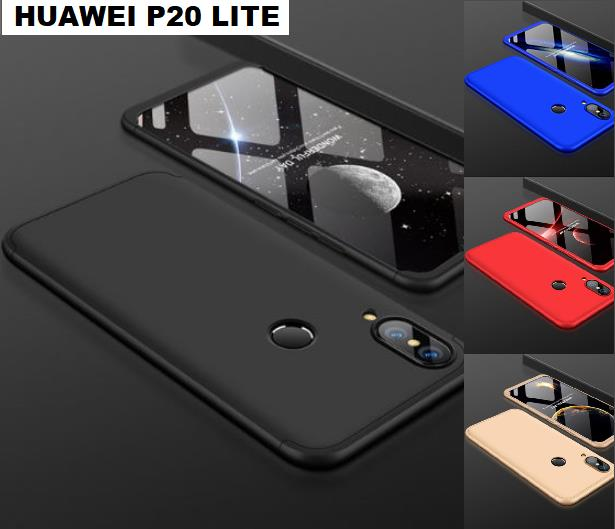 sports shoes 35ae7 f4b13 Huawei P20 / P20 LITE 360 Full Body Protection Case + Tempered Glass
