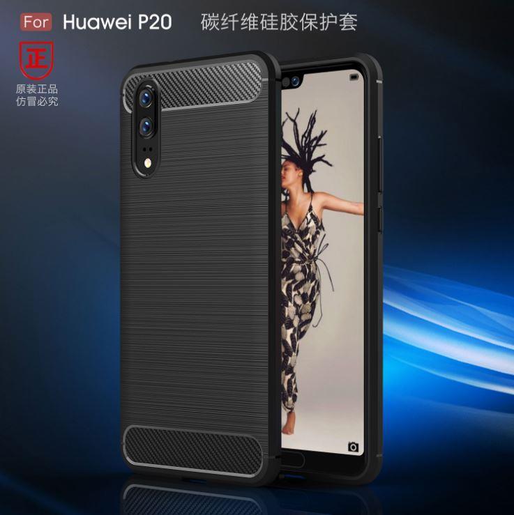 huge discount b3312 afbf9 Huawei P20 / P20 Pro Durable Carbon Fiber TPU Case Cover