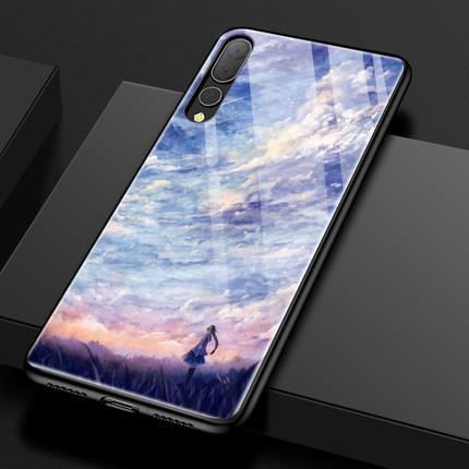 Huawei P20/P20 Pro glass silicon phone protection case casing cover