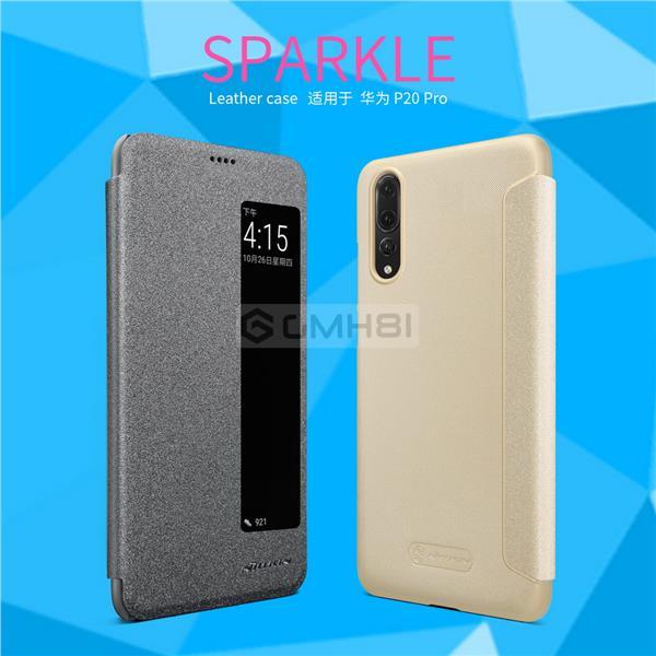 new arrival 58782 9c445 Huawei P20/P20 Pro Nillkin SPARKLE Auto Sleep Smart Cover Flip Case