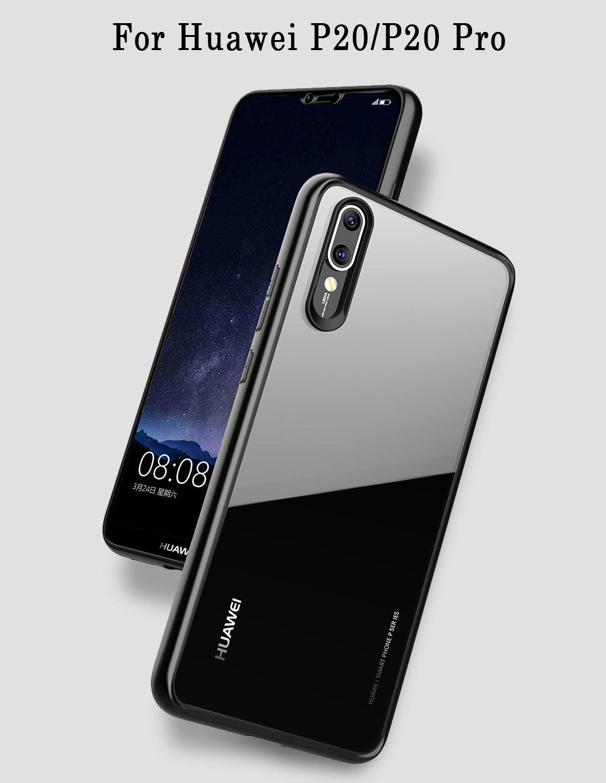 new product 877dd 338b5 Huawei P20/P20 Pro TPU Acrylic Transparent Back Case
