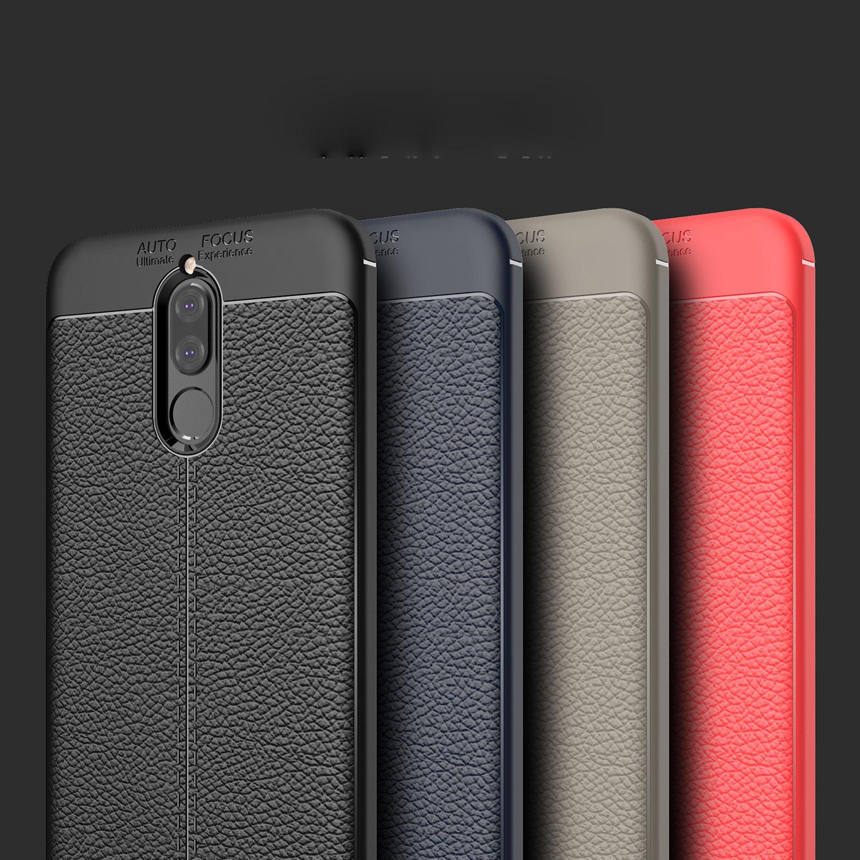 new product 459eb 4e839 Huawei P20 Pro Honor 9 Lite Honor 7X V10 Nova 2i TPU Leather Soft Case