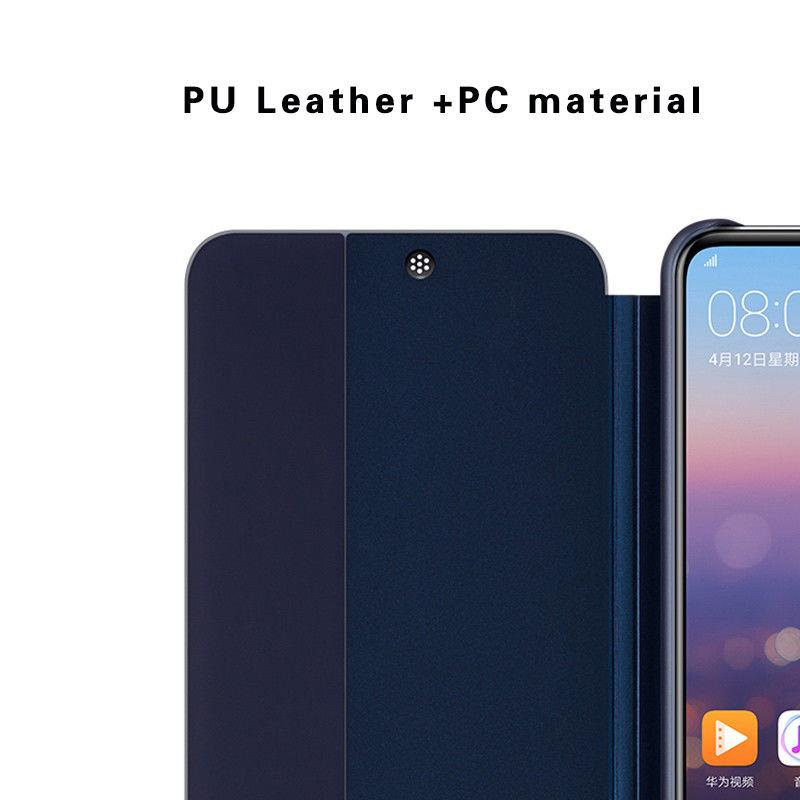 sports shoes 7ed3e 9a2ef Huawei P20 Pro Smart Clear Full View Flip Cover Leather Case