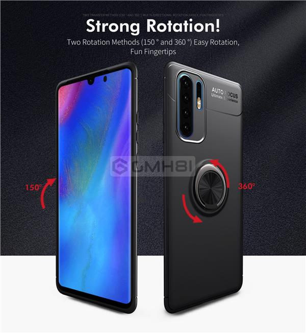 outlet e14f1 8a2cf Huawei P30 Pro INVISIBLE iRing Buckle Armor TPU Bumper Soft Cover Case