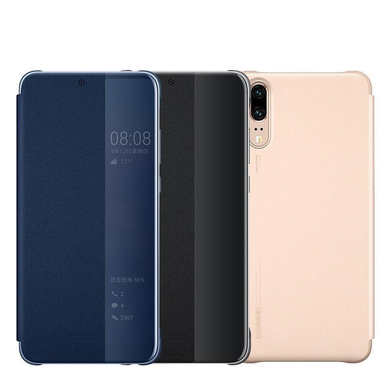 sports shoes c71ca bb785 Huawei P30 Smart Clear Full View Flip Cover Leather Case