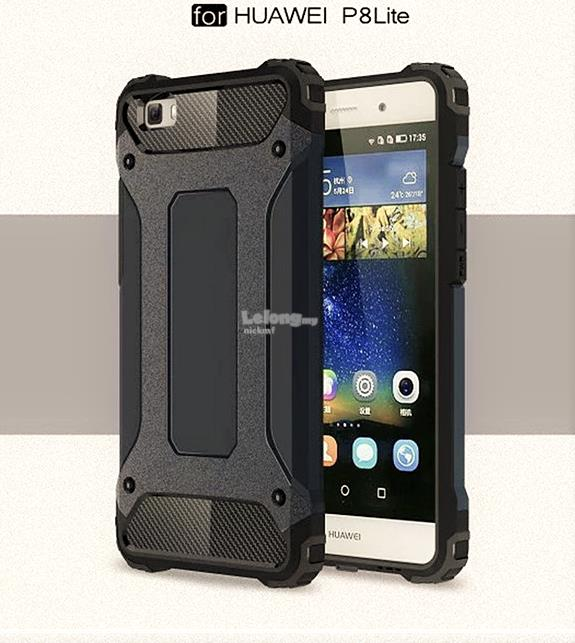 Huawei P8 Lite Hybrid Case + Free Tempered Glass