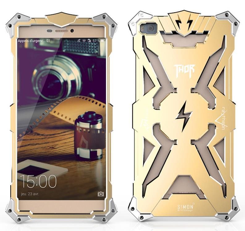 Huawei P8 / P8 Lite Aluminium Thor Metal Case Cover Casing + Gifts