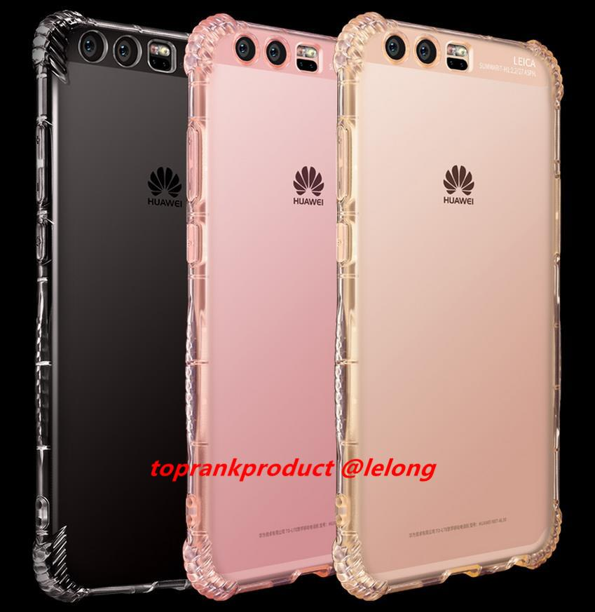 Huawei P9 P10 Plus Transparent TPU Back Armor Case Cover Casing + Gift