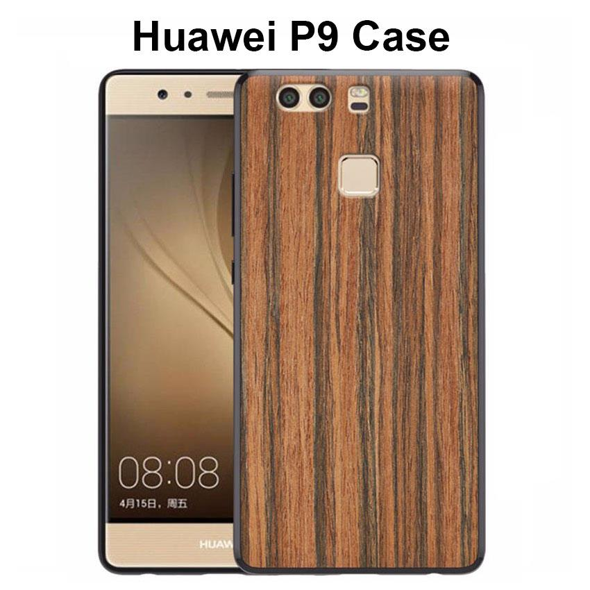 Huawei P9 Wooden Pattern TPU Case